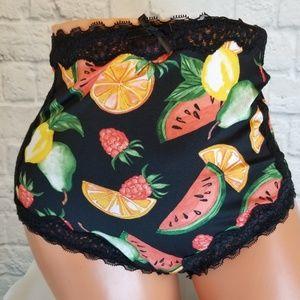 Torrid Black + Fruit High Waist Sexy Brief Panties